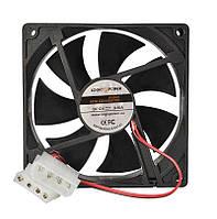 Вентилятор корпусной LogicPower F14NB, 3pin (питание), цвет-черный