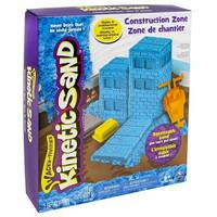 Набор песка для детского творчества - KINETIC SAND CONSTRUCTION ZONE (голубой , формочки, 283 г) от Wacky-Tivities - под заказ