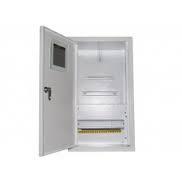 Шкаф монтажный распределительный наружной установки с замком под 3Ф электронный счетчик Лоза ШМР-3Фэ-12Н