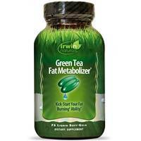 Зеленый чай, Irwin Naturals, Улучшает метаболизм жиров,  75  гелевых капсул