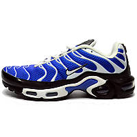 Кроссовки мужские  Nike Air Max Tn+ 1 (синие-белые-черные) Top replic