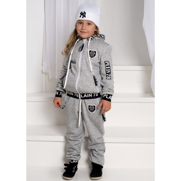 Стильный спортивный теплый костюм на меху Филип Плейн