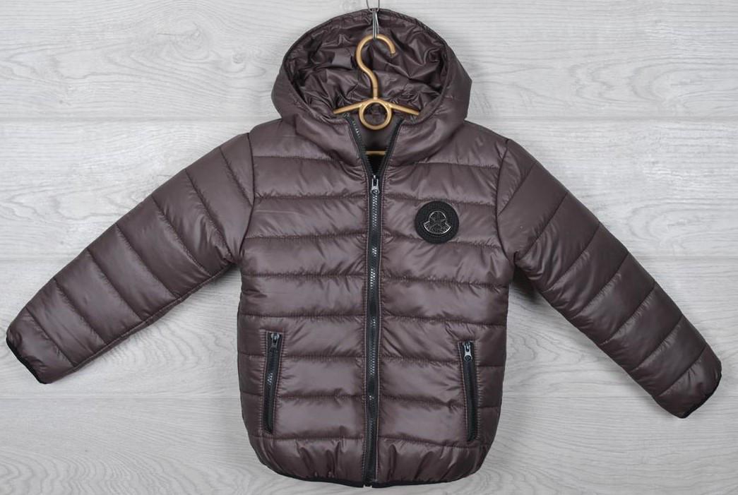 """Куртка подростковая демисезонная """"Moncler"""". 116-140 см (6-10 лет). Коричневая. Оптом."""