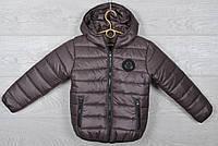 """Куртка подростковая демисезонная """"Moncler"""". 116-140 см (6-10 лет). Коричневая. Оптом., фото 1"""