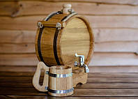 Баклага дубовая 5 литров для напитков, фото 1