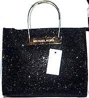 Стильные женские сумки с блестинками эко кожа(черный)26*32см