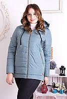 Куртка женская демисезонная больших размеров,М-335 мята