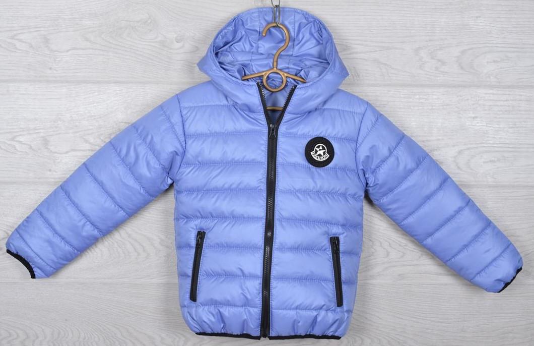 """Куртка подростковая демисезонная """"Moncler"""". 116-140 см (6-10 лет). Небесная. Оптом."""