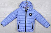 """Куртка подростковая демисезонная """"Moncler"""". 116-140 см (6-10 лет). Небесная. Оптом., фото 1"""