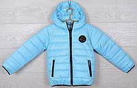 """Куртка подростковая демисезонная """"Moncler"""". 116-140 см (6-10 лет). Голубая. Оптом., фото 1"""
