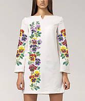 Заготовка жіночого плаття чи сукні для вишивки та вишивання бісером Бисерок  «Братики 86» ( 8034acd733789
