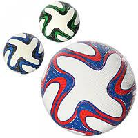 Мяч футбольный VA 0020  размер 5, резина Grain, 350г, сетка, в кульке, 3 цвета