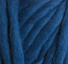 Толстая пряжа ручного прядения. 100% шерсть. Цвет Василек