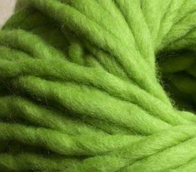 Толстая пряжа ручного прядения. 100% шерсть. Цвет Весенний