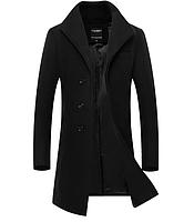 Мужское стильное пальто. Модель 61798, фото 1
