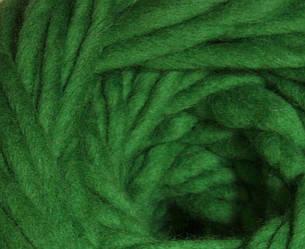 Толстая пряжа ручного прядения. 100% шерсть. Цвет Зеленый