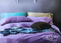 Двуспальное евро постельное белье Египетский хлопок 410019