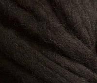 Толстая пряжа ручного прядения. 100% шерсть. Цвет Кофе