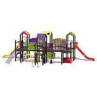 Детский игровой комплекс с кухней, мастерской, лабиринтом и комнатой Цитадель-NEW InterAtletika