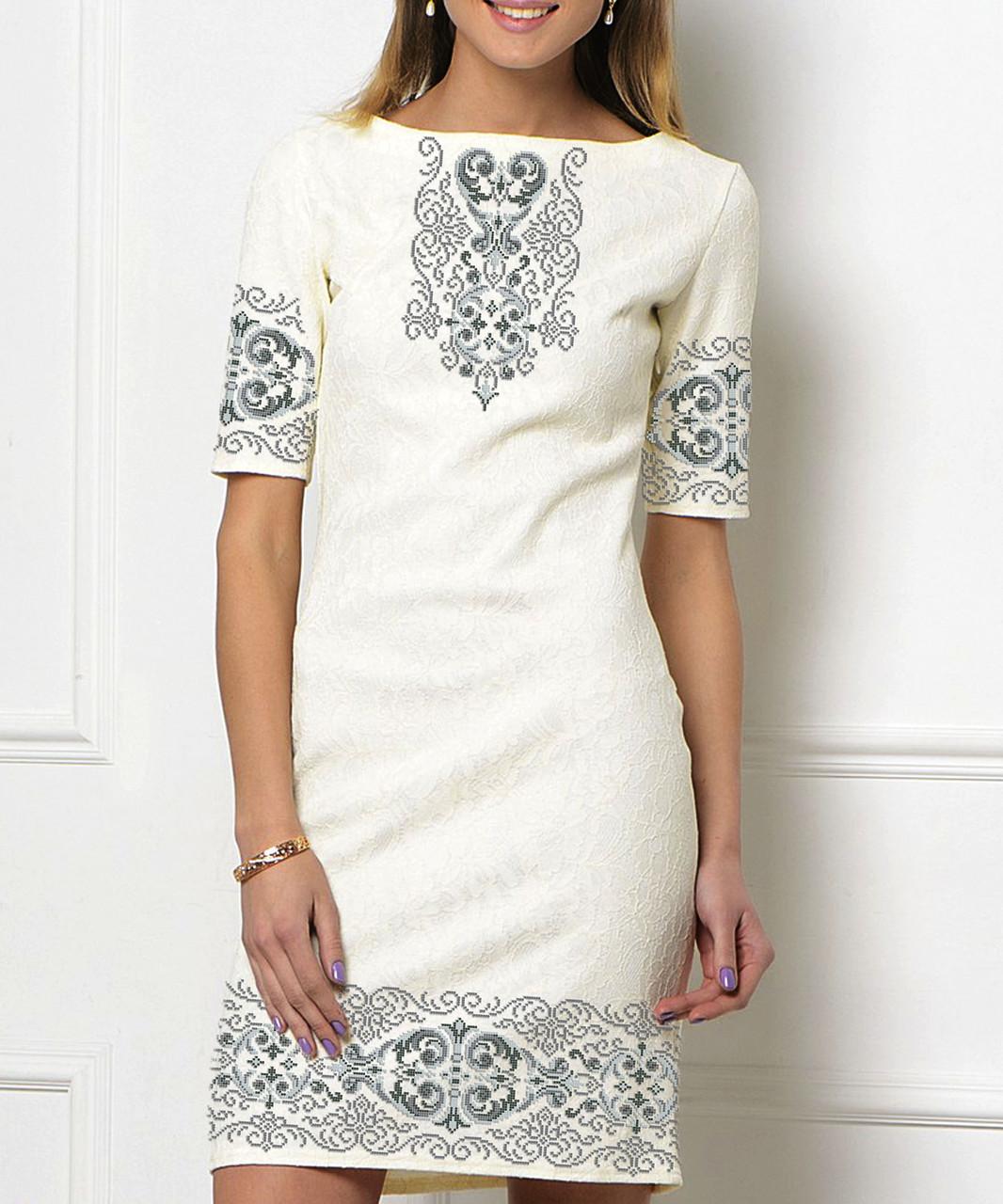 Заготовка жіночого плаття чи сукні для вишивки та вишивання бісером Бисерок  «Серпанок» (П-163 )