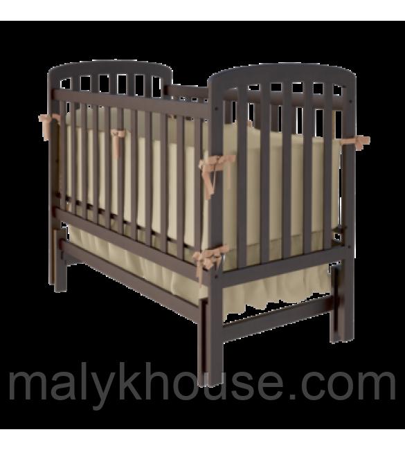 Детская кроватка TEDDY Woodman на маятнике (цвет шоколад)
