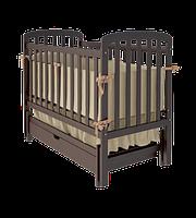 Детская кроватка TEDDY  Woodman с ящиком (цвет шоколад)