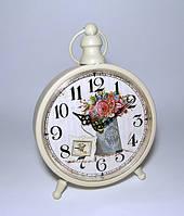 Настольные часы с цветами