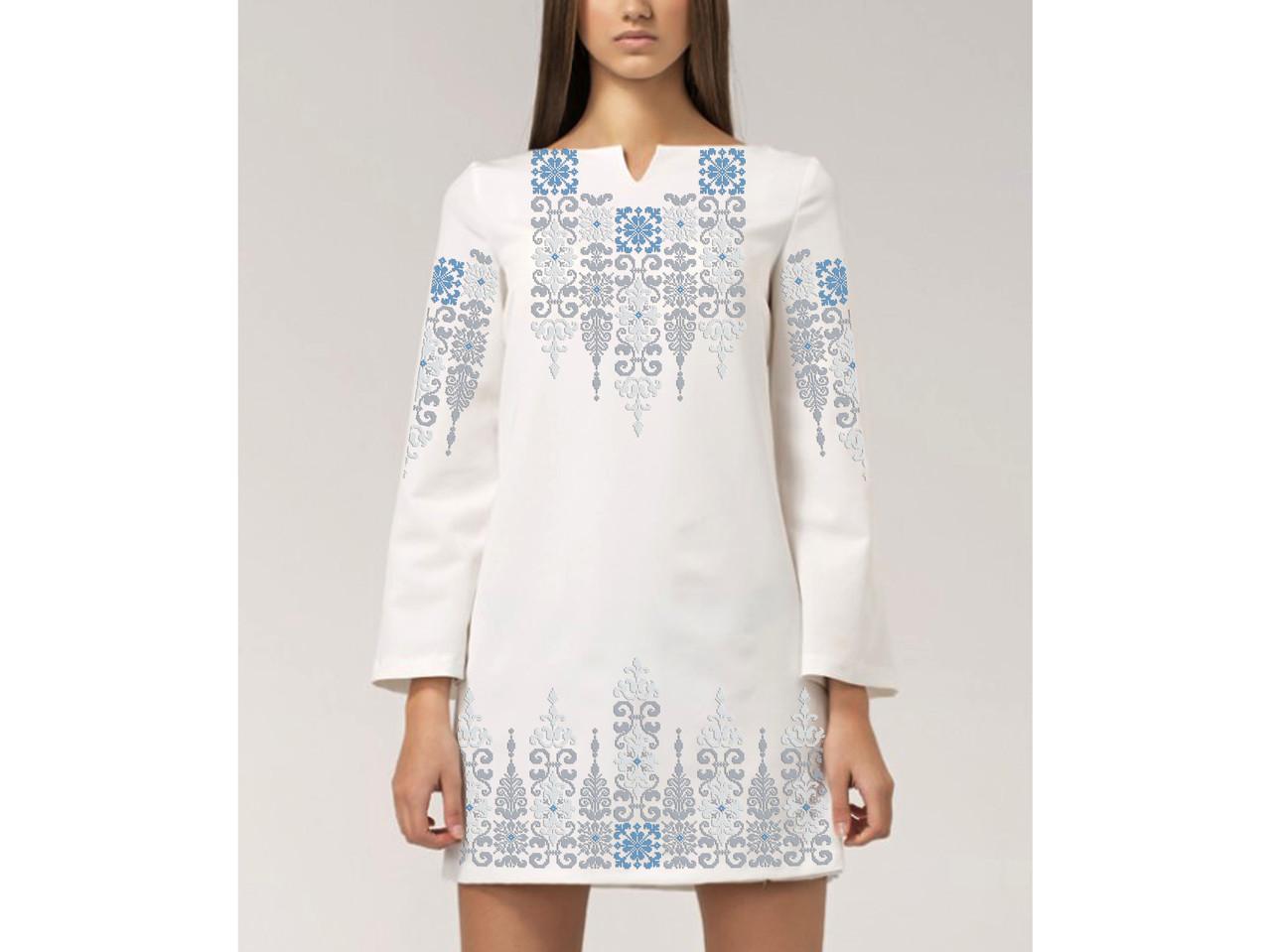 Заготовка жіночого плаття чи сукні для вишивки та вишивання бісером Бисерок  «Флірт світле» (П-165 ГБ) Габардин