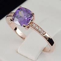 Пленительное кольцо с кристаллами Swarovski, покрытое слоями золота 0717 17 Фиолетовый