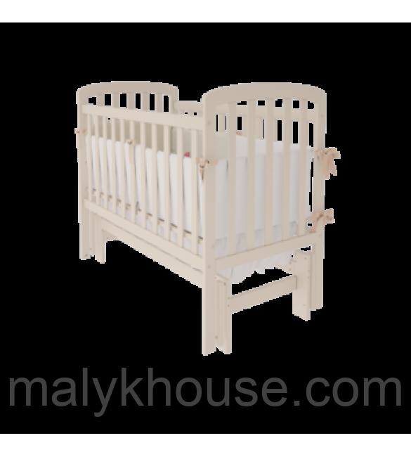 Детская кроватка TEDDY Woodman на маятнике (цвет ваниль)