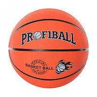 Мяч баскетбольный PROFIBALL VA-0001  размер 7,резина, 8панелей, рисунок-печать, 510г,