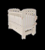 Детская кроватка TEDDY  Woodman с ящиком (цвет ваниль)