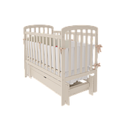 Дитяче ліжечко TEDDY Woodman з ящиком (колір ваніль)