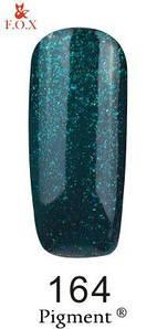 Гель-лак F.O.X 164 Pigment зеленый изумруд с мелкими блестками, 6 мл