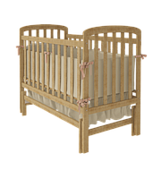 Детская кроватка TEDDY Woodman на маятнике (цвет натуральный)