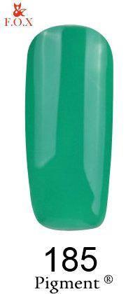 Гель-лак F.O.X 185 Pigment зеленый, 6 мл, фото 2