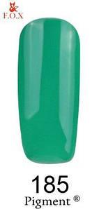 Гель-лак F.O.X 185 Pigment зеленый, 6 мл
