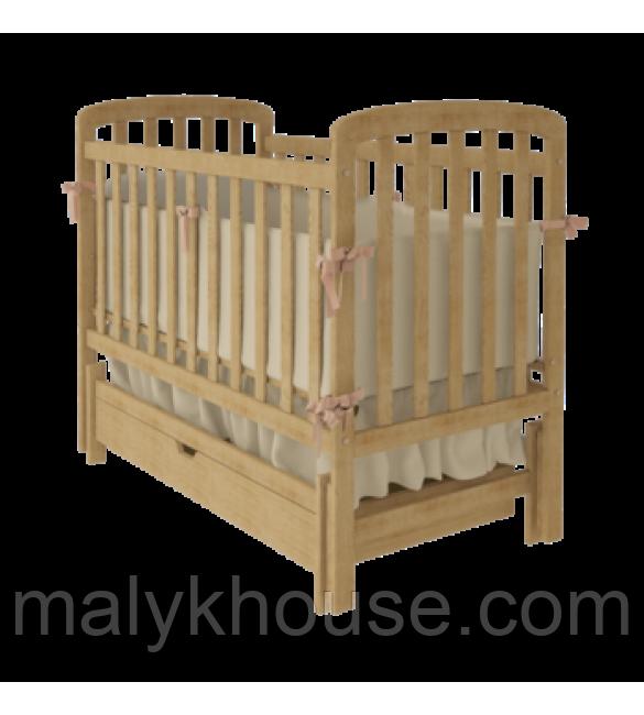 Детская кроватка TEDDY  Woodman с ящиком (цвет натуральный)