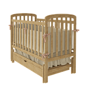 Дитяче ліжечко TEDDY Woodman з ящиком (колір натуральний)