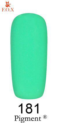 Гель-лак F.O.X 181 Pigment  зелено-мятный, 6 мл