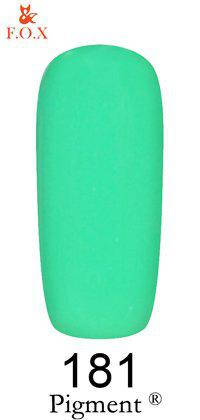 Гель-лак F.O.X 181 Pigment  зелено-мятный, 6 мл, фото 2