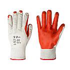 Перчатки хозяйственные V-v Latex бело-оранжевые