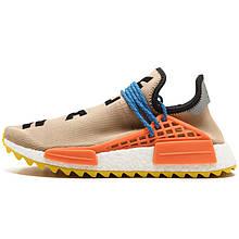 """Кросівки чоловічі Adidas Human Race NMD x Pharrell Williams """"Pale """" Nude"""" (помаранчеві) Top replic"""