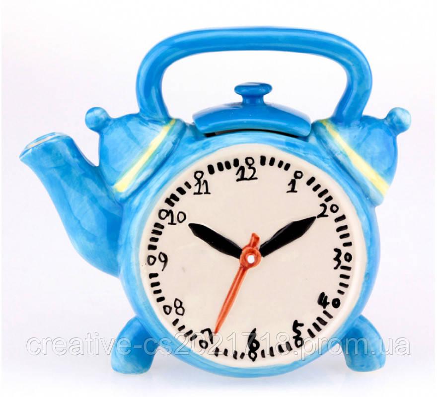 """Чайник-заварник """"Часы"""" керамический"""