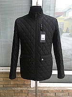 Мужская весенняя стёганая куртка черный