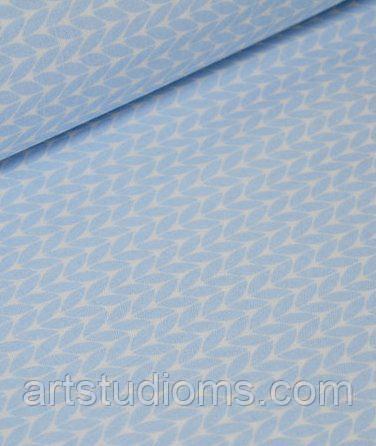 Ткань. Хлопок Пряжа свитерок голубого цвета. Отрез 25х40см