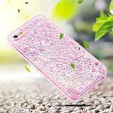 Чехол пластиковый для iphone 5/5S с плавающими блестками , фото 2