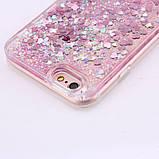 Чехол пластиковый для iphone 5/5S с плавающими блестками , фото 3