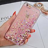 Чехол пластиковый для iphone 5/5S с плавающими блестками , фото 4