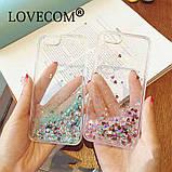 Чехол пластиковый для iphone 5/5S с плавающими блестками , фото 5
